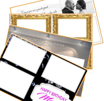 Template personalizzati per foto booth a Trapani Palermo Agrigento